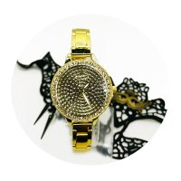 WSM192 - Gold Studded ladies watch