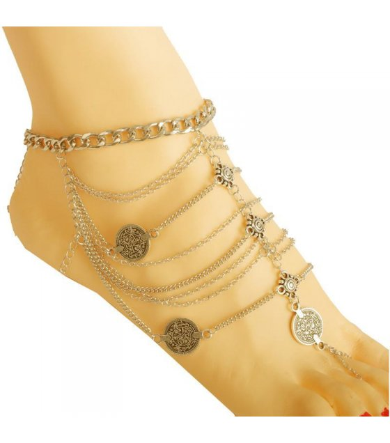 AK004 - Gold Coin Anklet
