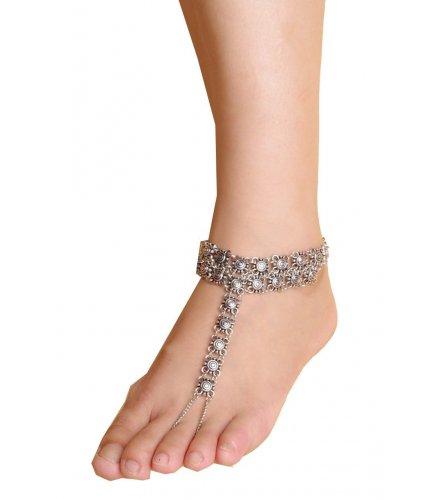 AK007 - Elegant Silver Anklet
