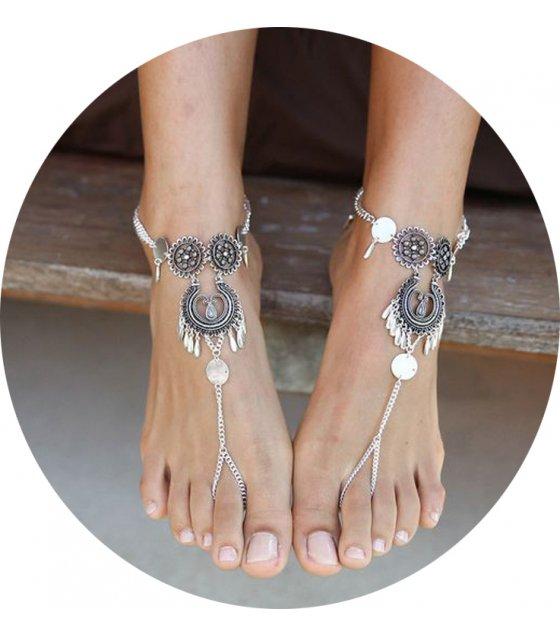 AK012 - Silver Bohemian Anklet