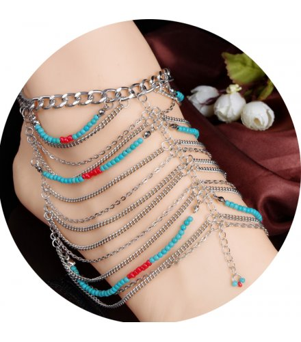 AK015 - Colorful Beaded Anklet