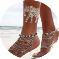 AK016 - Layered Chain Anklet