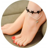 AK029 - Layered Star Lace Anklet