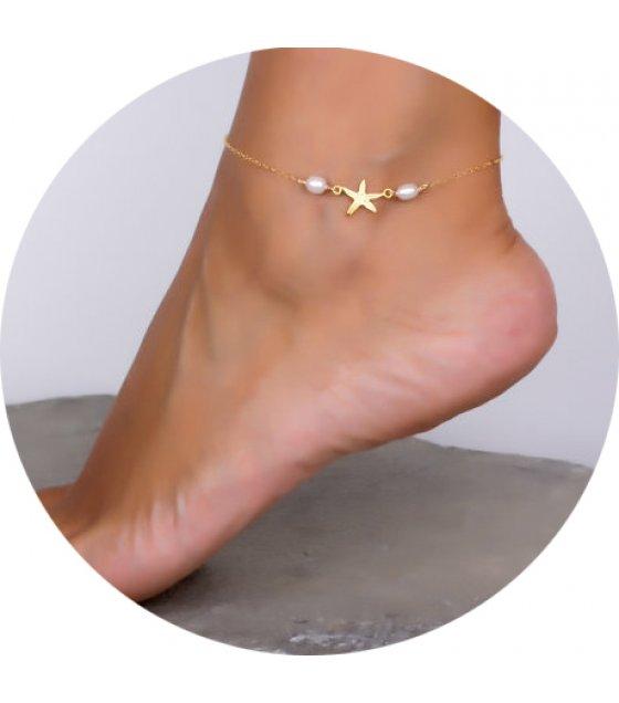 AK042 - Gold Star Anklet