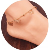 AK043 - Gold Butterfly Anklet
