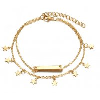 AK048 - Pointed star stars foot chain