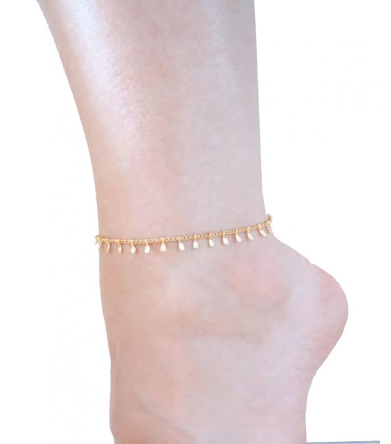 AK055 - Bead chain anklet