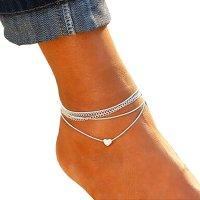 AK059 - Bohemian heart shaped Anklet