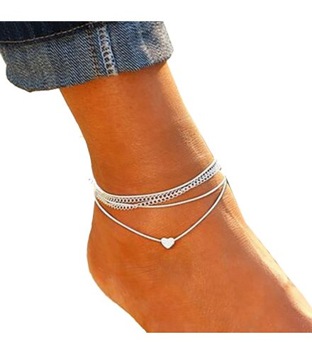 AK059 - Bohemian heart shaped Anklet