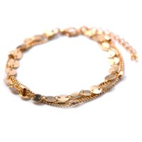 AK063 - Sequins chain anklet