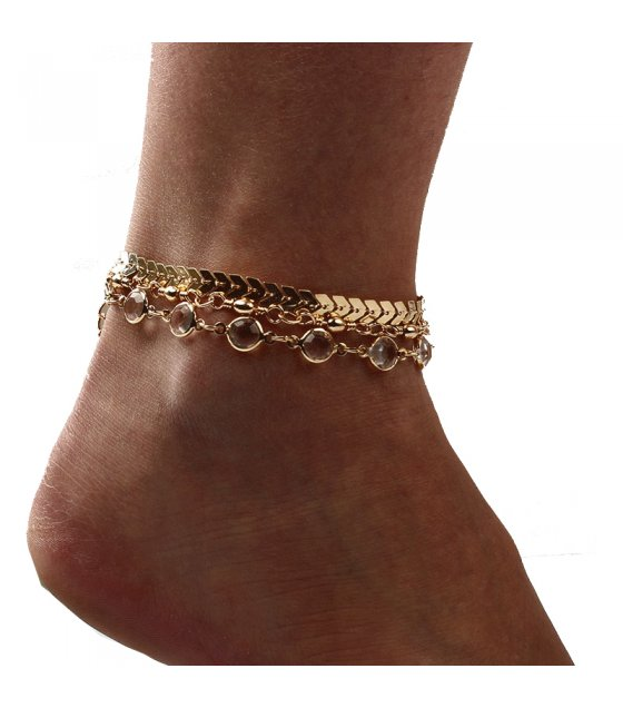 AK064 - Wild fashion arrow diamond Anklet