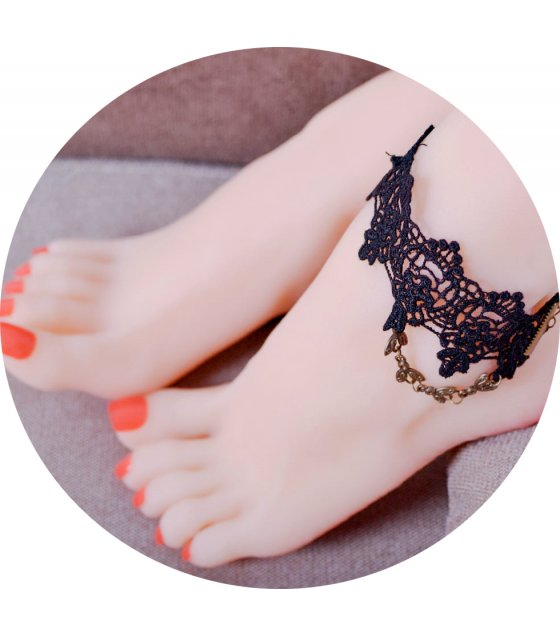 AK067 - Korean lace anklet