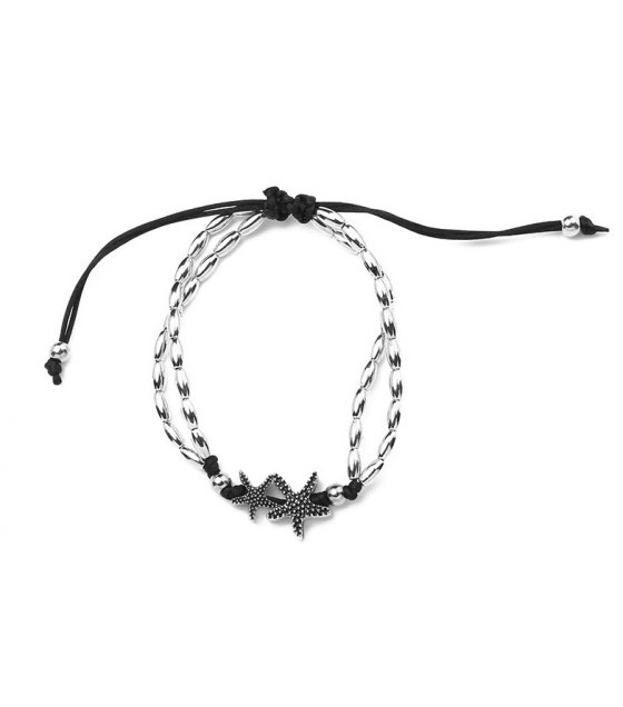 AK076 - Retro wind starfish Anklet