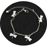 AK078 - Butterfly leaves beach anklet