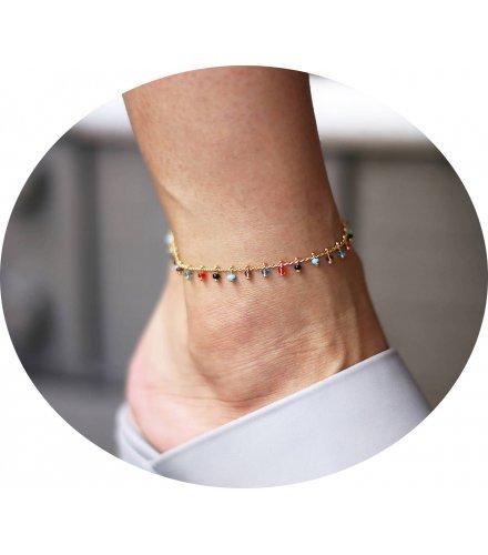 AK083 - Colorful Gemstone Anklet