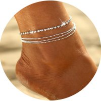 AK084 - Simple cheap claw chain anklet