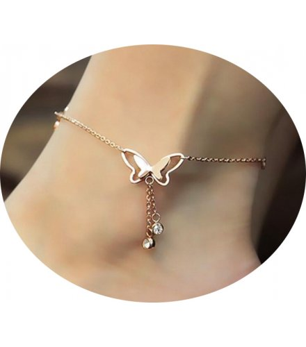 AK086 - Sweet hollow butterfly anklet