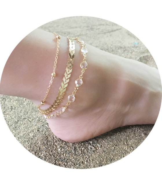 AK087 - Fish bone anklet
