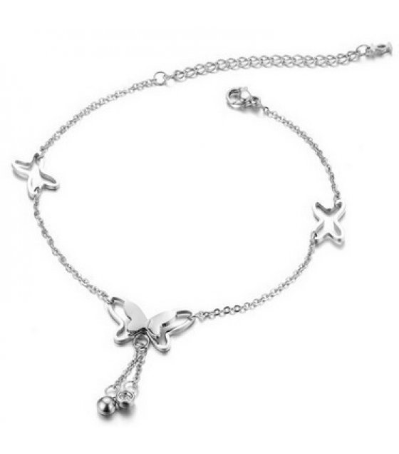 AK097 - Korean sweet hollow butterfly anklet