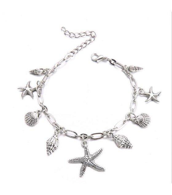 AK098 - Korean starfish shell anklet