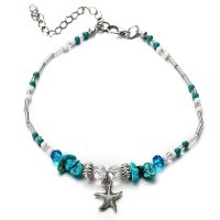 AK099 - Fashion blue turquoise crystal anklet