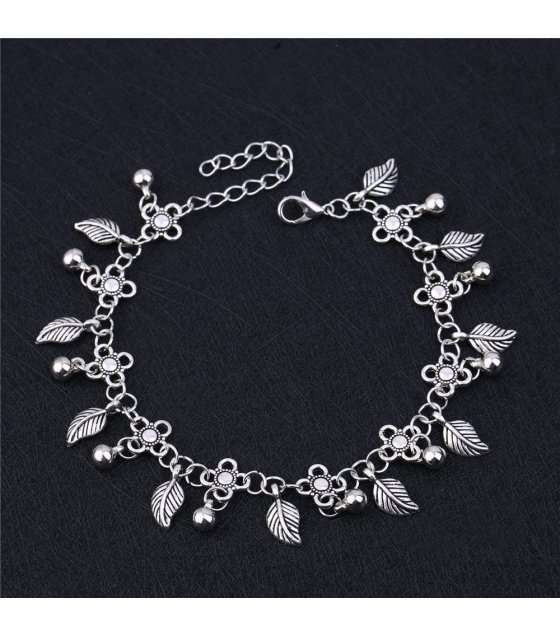 AK108 - Bohemia Retro Fashion Water Drop Tassel Leaf Anklet