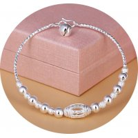 AK113 - Korean silver-plated Anklet