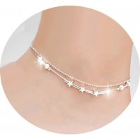 AK115 -  Simple Star Anklet