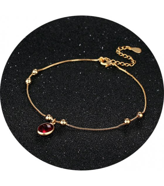 AK117 - Gold-plated simple anklet