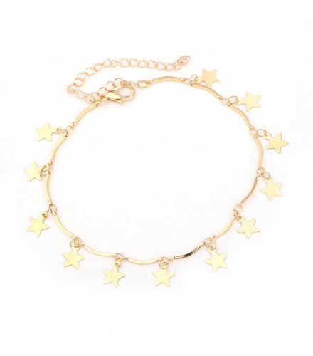 AK126 - Korean five-pointed star anklet