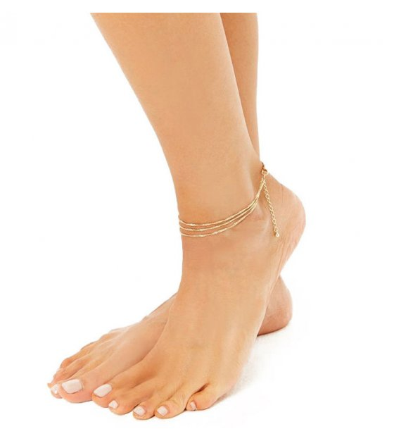 AK131 - Simple Layered Anklet