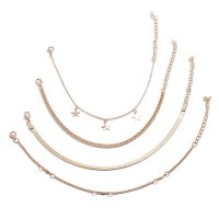 AK133 - Simple star five-pointed Anklet