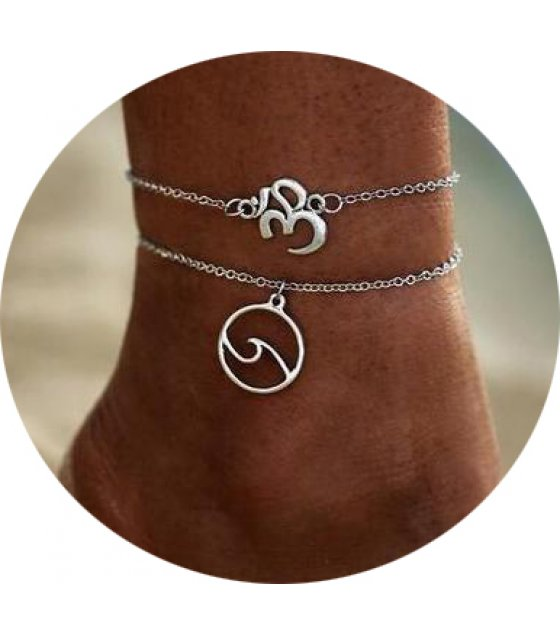AK143 - Bohemian Wave Double Beach Anklet