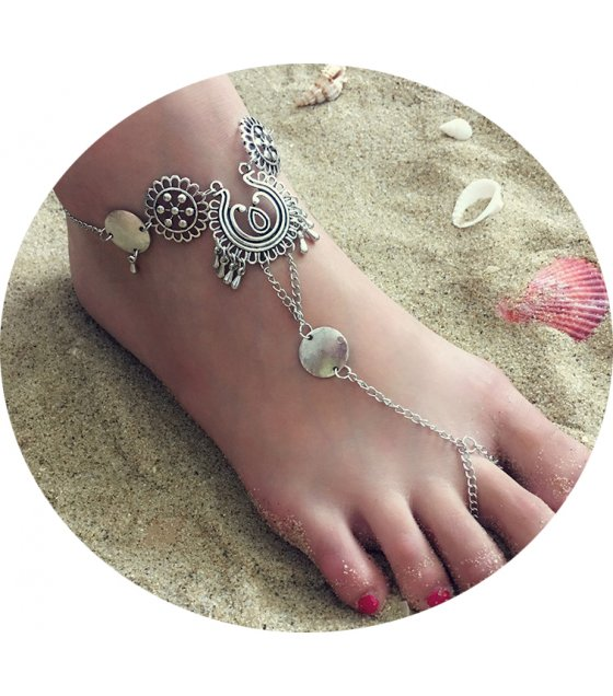 AK146 - Hollow Carved Retro Anklet