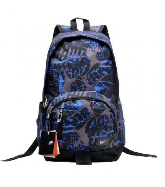 BP019 - Blue & Black Mixed Backpack