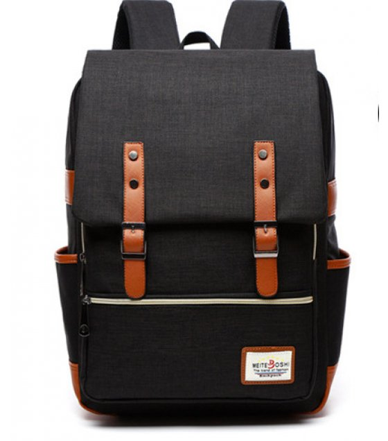 BP165 - Stylish Black Backpack Bag