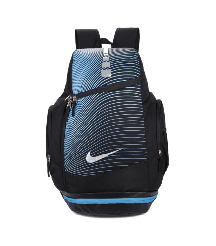 BP248 - Blue Striped Backpack Bag