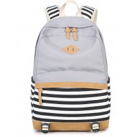 BP292 - canvas stripe stitching women's backpack