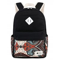 BP357 - Korean print canvas Women's backpack