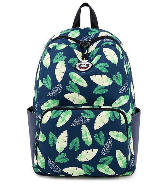 BP358 - Floral Leaf Backpack