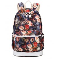 BP372 - Red Floral Backpack