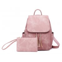 BP468 - PU leather women's backpack