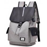 BP495 - Grey Canvas Bag