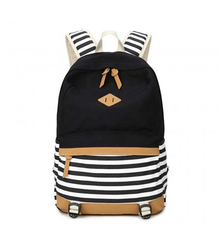 BP512 - canvas stripe stitching women's backpack