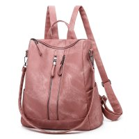 BP558 - Korean soft face pu leather women's backpack