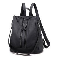 BP559 - Korean soft face pu leather women's backpack