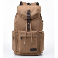 BP594 - Canvas USB charging backpack