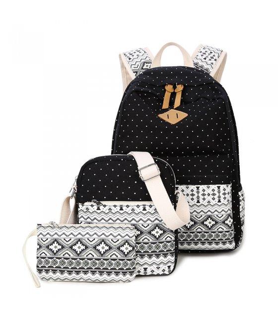 BP608 - Korean Striped Backpack Set