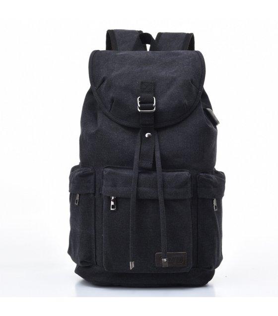 BP621 - Canvas USB charging backpack