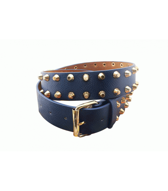 BL001 - Blue Punk Leather Belt